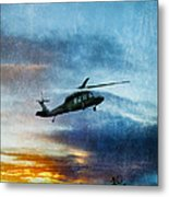 Blackhawk Helicopter Metal Print