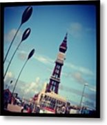 Blackpool Tower Metal Print by Chris Jones