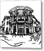 Blair Public Library In Fayetteville Ar Metal Print