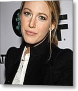 Blake Lively At Arrivals For You Know Metal Print