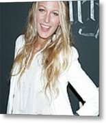 Blake Lively Wearing A Dolce & Gabbana Metal Print by Everett