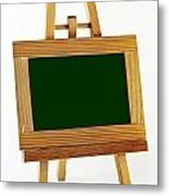 Blank Chalkboard In Wood Frame Metal Print