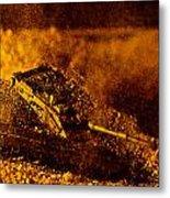 Blast On The Desert Metal Print