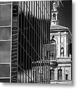 Blending Architecture Black And White Metal Print
