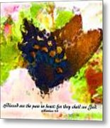 Blessed Are The Pure In Heart Metal Print