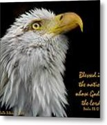 Blessed Is The Nation Metal Print