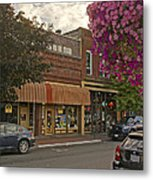 Blind Georges And Laughing Clam On G Street In Grants Pass Metal Print by Mick Anderson