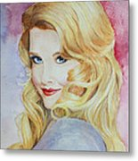 Blond Pinup  Metal Print by Terri Maddin-Miller