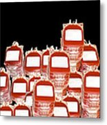 Blood Bags Metal Print