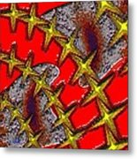 Blood On The Wire Metal Print