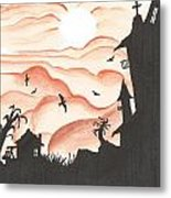 Blood Red Sky Metal Print by Anthony McCracken