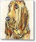 Bloodhound-watercolor Metal Print
