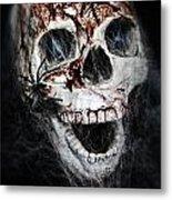 Bloody Skull Metal Print by Joana Kruse