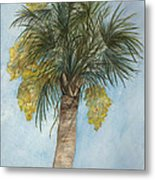 Blooming Palm Metal Print