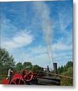 Blowing Off A Little Steam Metal Print