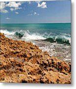 Blowing Rocks Jupiter Island Florida Metal Print by Michelle Wiarda