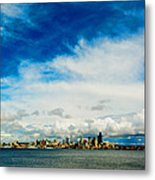 Blue Above The Emerald Metal Print