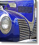 Blue And Chrome Nose Metal Print