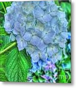 Blue And Green Flora Metal Print