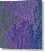 Blue And Purple Stone Abstract Metal Print