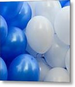 Blue And White Balloons  Metal Print