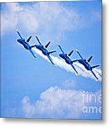 Blue Angels On Flyby Metal Print