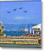 Blue Angels San Francisco Wharf Metal Print