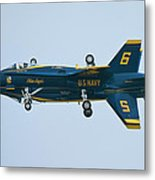 Blue Angels Solo Mirror Metal Print