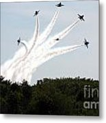 Blue Angels Star Burst Metal Print