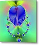 Blue Apples  Metal Print