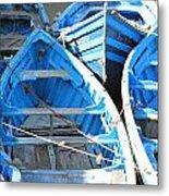 Blue Boats Metal Print