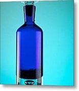 Blue Bottle Metal Print