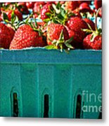 Blue Box Metal Print