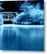 Blue Bridge Metal Print by Maria Scarfone