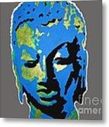 Blue Buddha  Metal Print