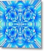 Blue Burst Metal Print
