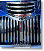 Blue Chevy Pick-up Grill Metal Print