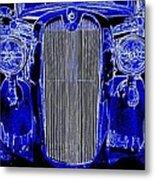 Blue Coupe Metal Print