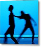 Blue Dancers Metal Print