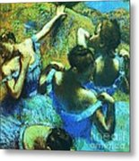 Blue Dancers Metal Print by Pg Reproductions