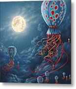 Blue Floaters Metal Print by Lynette Cook