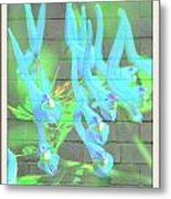 Blue Flower Abstract Metal Print