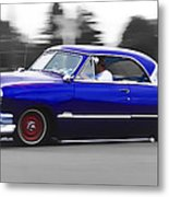 Blue Ford Customline Metal Print by Phil 'motography' Clark