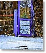 Blue Gate #24 Metal Print
