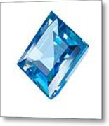 Blue Gem Isolated Metal Print by Atiketta Sangasaeng