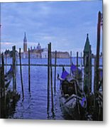Blue Hour At The Docks Of San Marco Metal Print