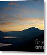 Blue Hour Over The Mountain Metal Print