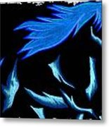 Blue Ice Flows Over Adobe Dance Metal Print