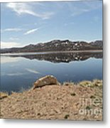 Blue Mesa Reflection Metal Print