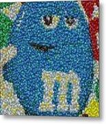 Blue Mm Mosaic Metal Print